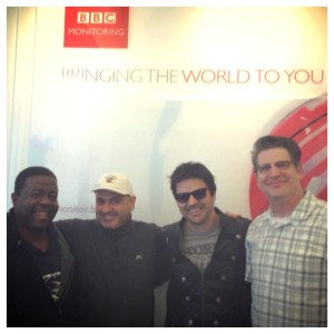 At the BBC: Troy Anderson, Pauly Zarb, Anthony Snape and Antsy McClain.  Photo by Anthony Snape