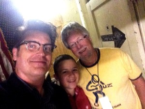 Visiting with Parker Hastings and Eddie Mattingly backstage in Indianapolis