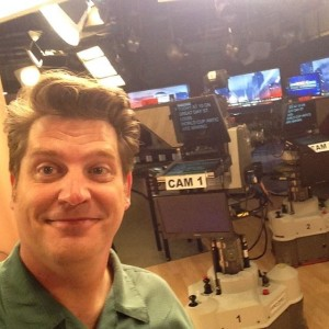 On the set at KMOV-TV in St. Louis