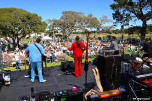 Antsy and the Troubs perform to an active crowd at Monterey (photo courtesy of Top Dog Images)