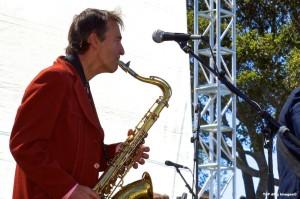 """Loose"" Bruce Wandmeyer wails on the sax. (Photo courtesy of Top Dog Images)"