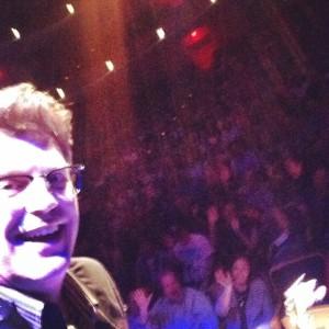 Having fun with the crowd in Omaha, Nebraska