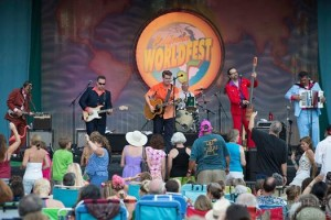 I joined the Troubs on stage at the WorldFest for two shows. (courtesy of John Taber)